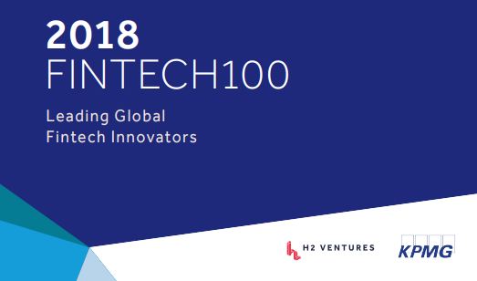 '2018 Fintech100 – Leading Global Fintech Innovators'