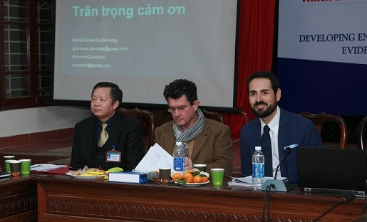 A research on entrepreneurial competences presented by INSME Secretary General, Giovanni Zazzerini in Vietnam