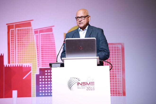 """Join the next INSMEAcademy webinar on """"Artificial Intelligence, Robots and SMEs: Possibilities, Problems and Prospects"""" with Prof. Mitra from the Essex Business School"""