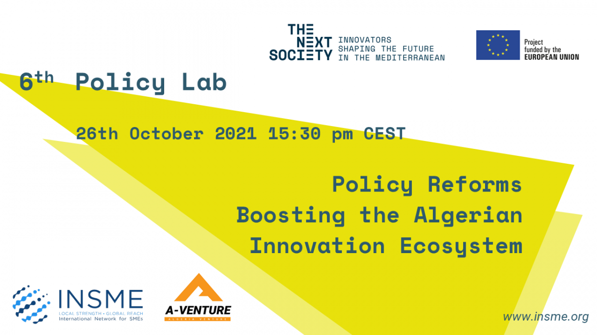 Register to the 6th Policy Lab: Reforms boosting the Algerian innovation ecosystem